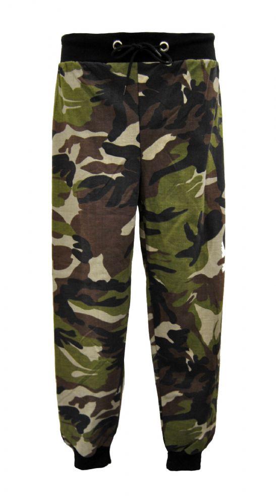 Ladies Khaki Camouflage Army Style Sweat Pants