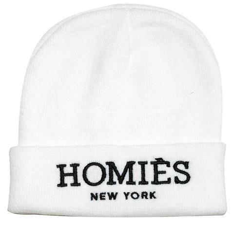 Homies Beanie - White/Black