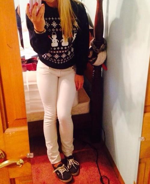 Sweater: ugly christmas sweater, ugly, christmas, snowman, snowmen ...