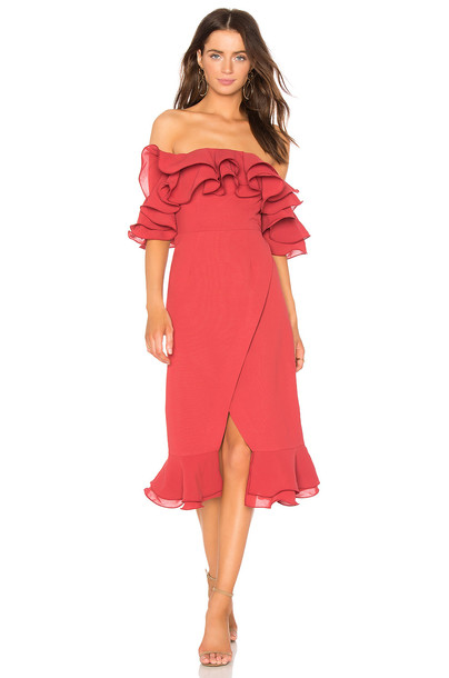 C/MEO dress midi dress midi red