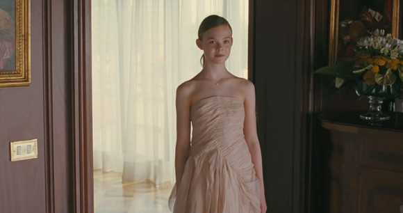 dress elle fanning celebrities somewhere sofia coppola marc jacobs pastel