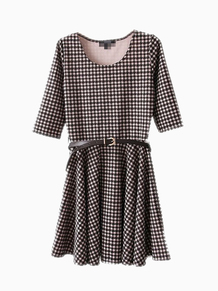 Prom Skater Dress On Houndstooth | Choies