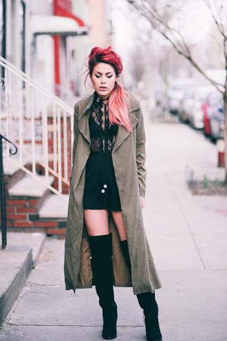 romper nastygal bolo tie sheer lace festival fashion style blogger trendy coachella luanna perez rhinestones plunging tassel