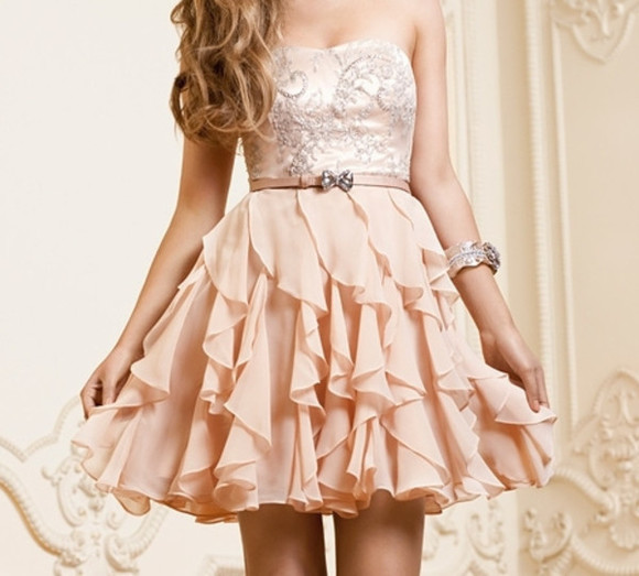 dress cute dress clothes pink dress fashion
