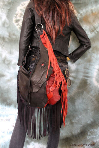 bag gothic grunge gothic boots gothic body jewelry grunge wishlist rock rockabilly boho bohemian metal metallic nails fringes fringed bag unique style slouchy oversized