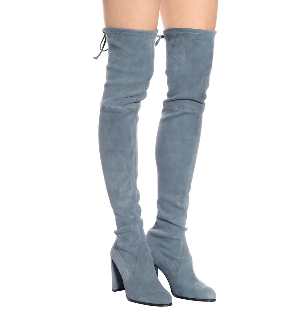 Hiline suede over-the-knee boots