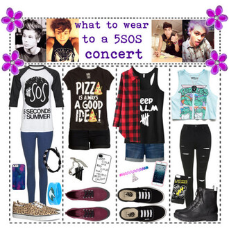 t-shirt 5 seconds of summer 5sos concert tank top skinny jeans shorts flannel phone cover vans necklace choker necklace braceles combats t shirt. cropped tank top tmnt pizza