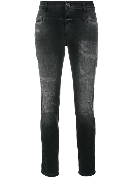 Closed jeans cropped jeans cropped women spandex cotton grey