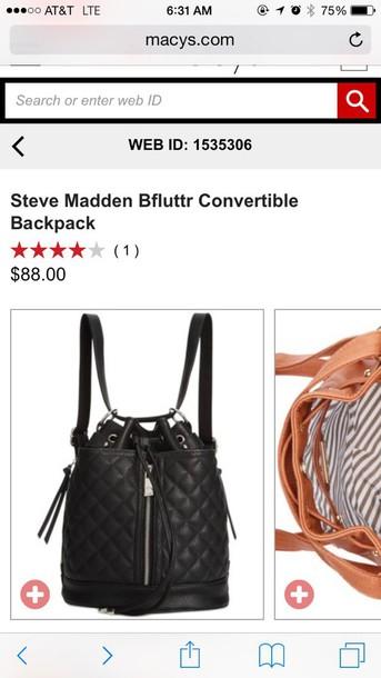bag steve madden convertible backpack k