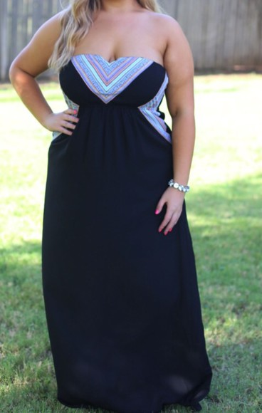 maxi dress black sweetheart dresses