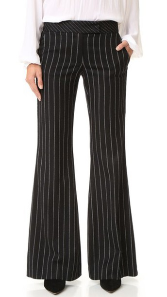 Rachel Zoe Emmeline Pinstripe Pants - Black/White