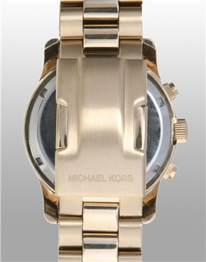 Michael Kors   Michael Kors Gold Chronograph Watch at ASOS