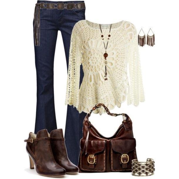 blouse crochet top