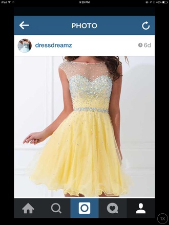 dress yellow day prom yellow dress pretty cute