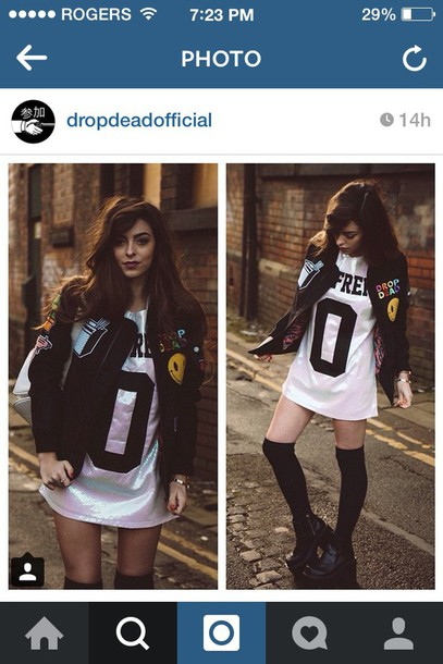 jacket patch drop dead clothing