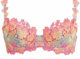 underwear bra crochet colourful crochet floral intimate top