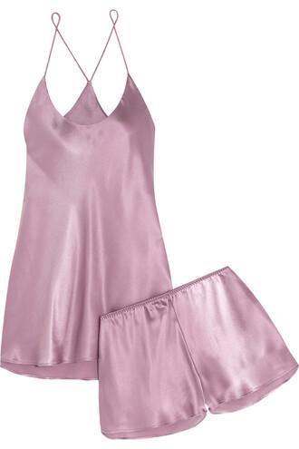silk satin lavender underwear