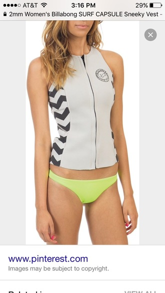 swimwear billabong wetsuit vest 2mm sneeky surf capsule off-white find this