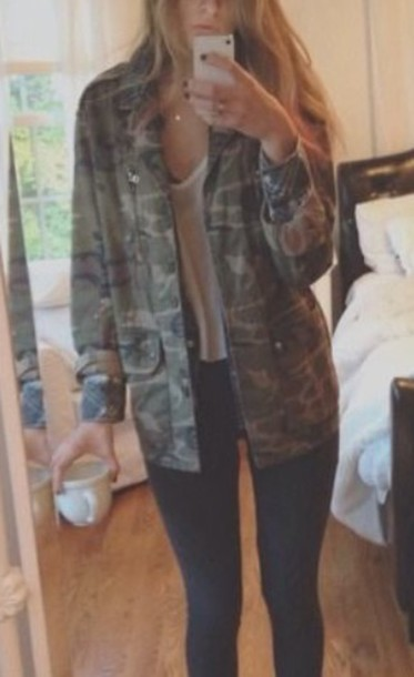 jacket utility jacket camo jacket
