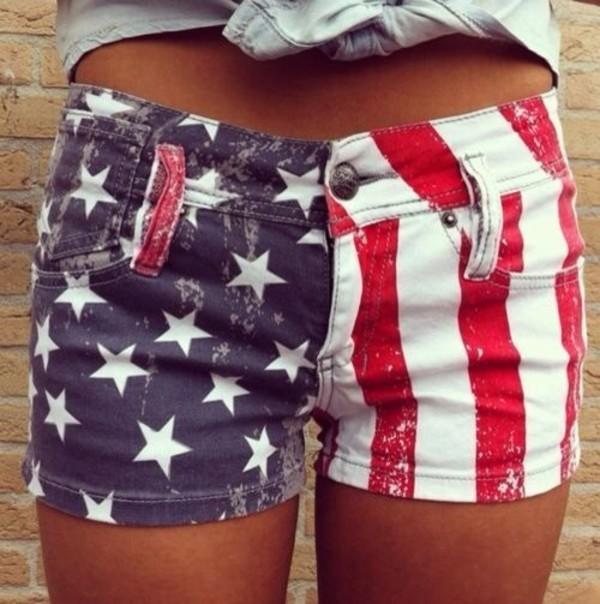 shorts washed american flag shorts