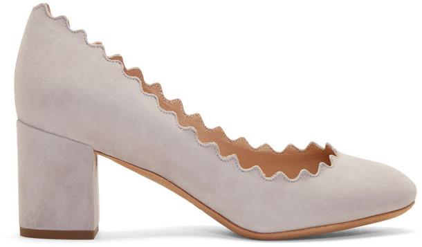 Chloe heels suede grey shoes