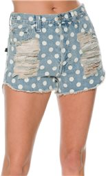 MINKPINK SUGAR MAGNOLIA SLASHED DENIM SHORT > Womens > Clothing > Shorts | Swell.com