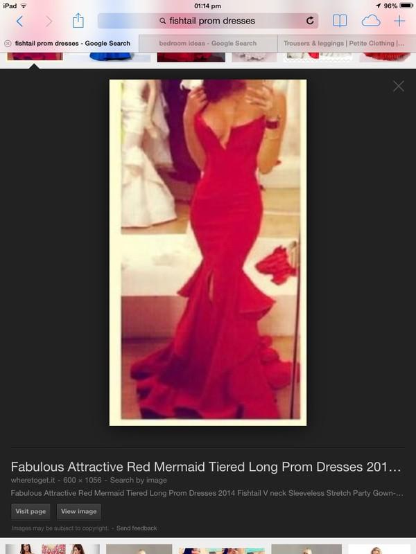 red dress fishtail dress dress