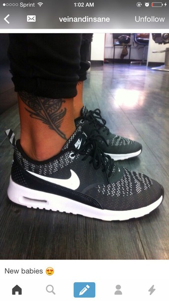 shoes, nike, black, sneakers, black and