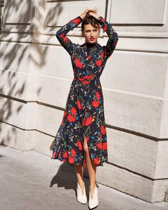 dress floral shoes top