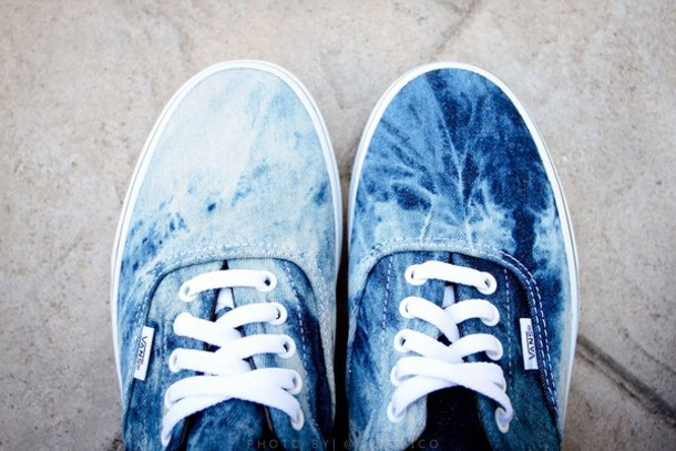 shoes acid wash vans