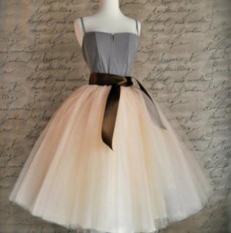 skirt cute girly style kawaii tutu tulle skirt fashion prom nude beige peach musheng