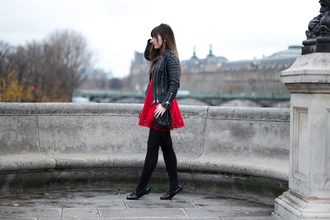 meet me in paree blogger dress jacket shoes bag