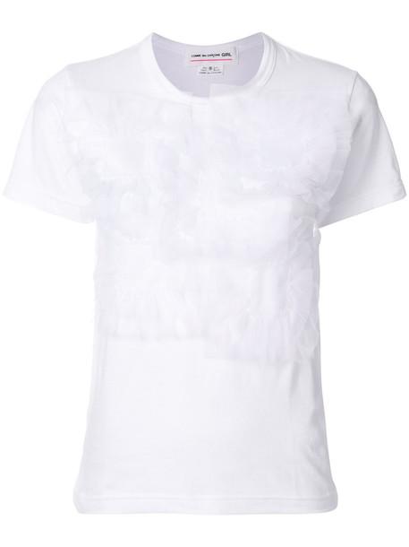 Comme des Garçons GIRL t-shirt shirt t-shirt women white cotton top