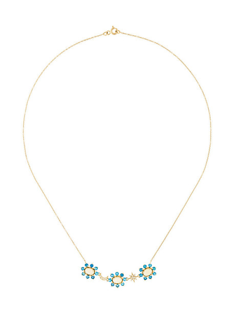 Ileana Makri women opal necklace gold grey metallic jewels