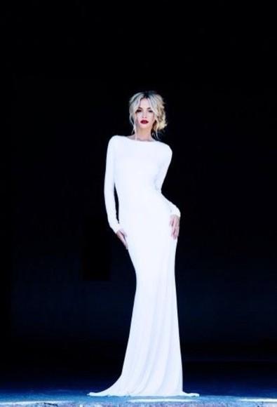 fitted dress white dress homecoming dress elegant