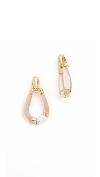 colorblock earrings peach jewels