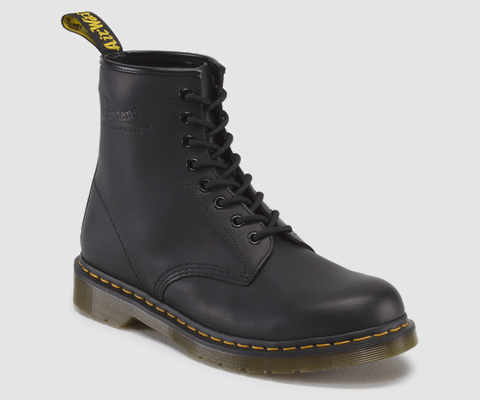 dr martens 1460 black greasy doc martens boots and shoes. Black Bedroom Furniture Sets. Home Design Ideas