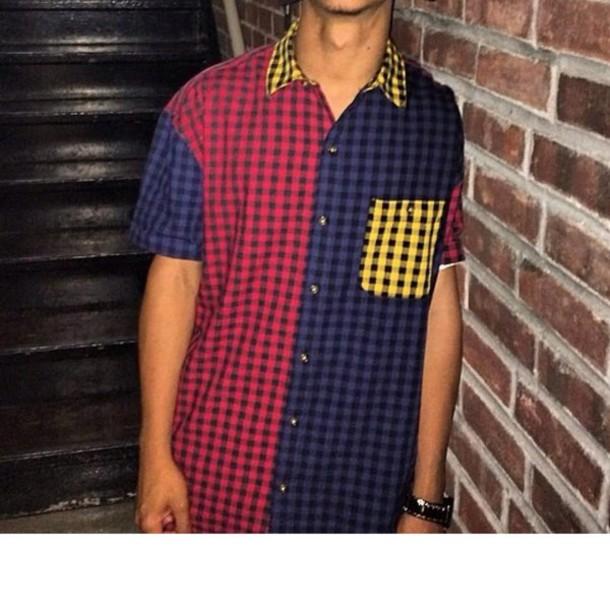 shirt flannel multicolor