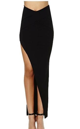 skirt long skirt and fashion long skirt skirt cutout high waisted