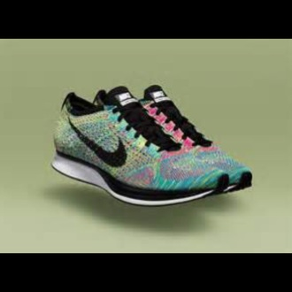 shoes flynit multi colored nike running shoes nike shoes womens roshe runs 4.0