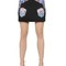 Embroidered stretch cady mini skirt