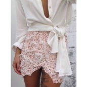 skirt,pink,roses,rose,skirts and tops,white,white and pink dress,dress,blouse