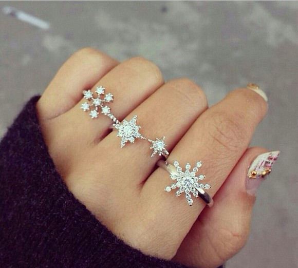 style jewels ring winter sweater
