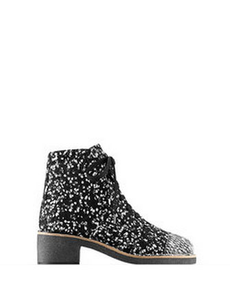 chanel ankle boots. chanel tweed ankle boot lace-ups with 40mm heel in black - avenue k boots