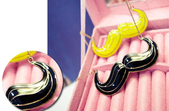 Free Shipping Women Vintage Cute Mustache Necklace Chain #B112 Hot | eBay