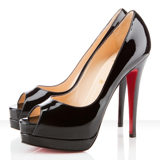 £105.00 - Christian Louboutin Altadama 140mm Peep Toe Pumps Black