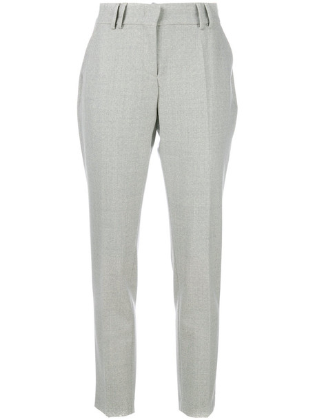 women spandex fit wool grey pants