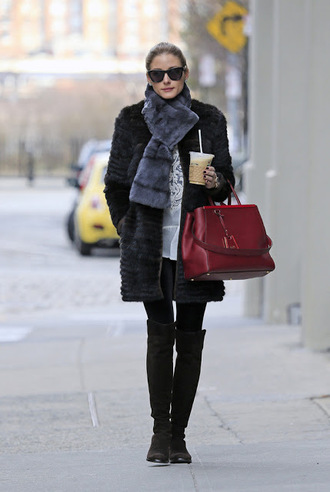 shoes olivia palermo boots brown casual winter outfits girl fashion olivia palermo thigh high boots winter boots shoes winter