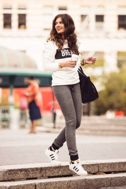 shoes adidas superstar classic bag hair white adidas superstars adidas shoes streetstyle winter sports coffee shirt