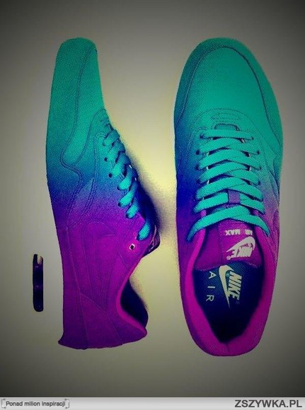shoes nike air max ombre turquoise purple white dope dope as f***